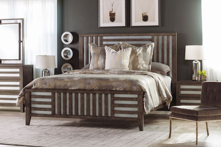 """Model Of 62"""" Modern Lattice Framed Bed in Driftwood - Style Of driftwood bedroom furniture Beautiful"""