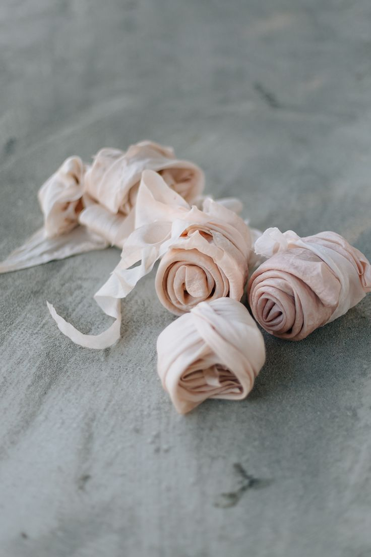 plant dyed silk ribbons by floretally