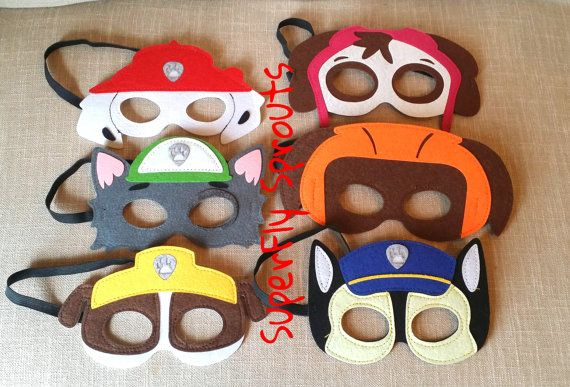 Ready to Ship Paw Patrol Felt Masks / Paw by SuperFlySprouts