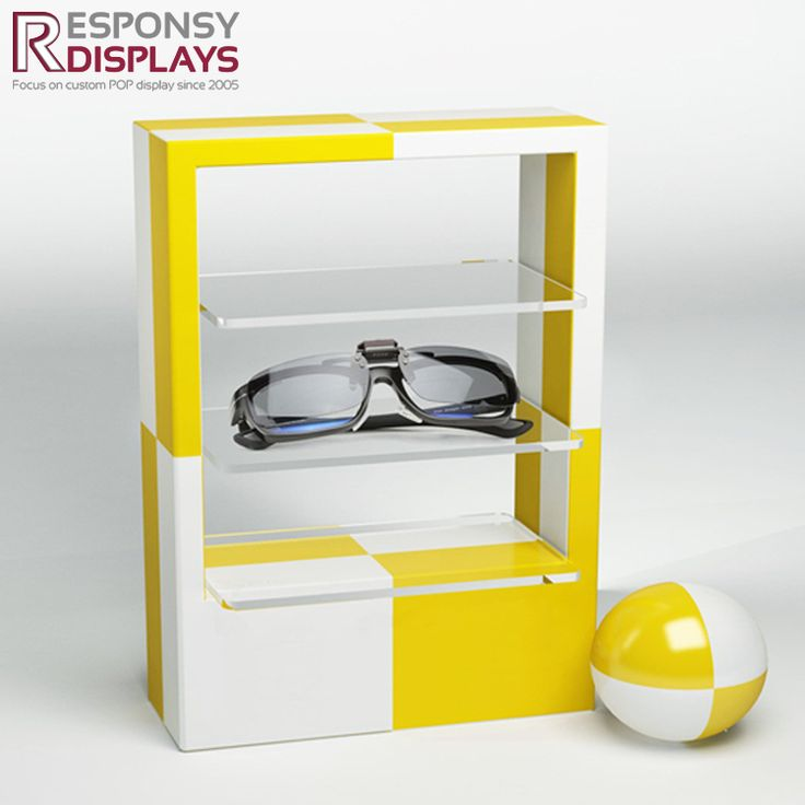 Colorful Simple Design Acrylic Countertop Glasses Display Shelf