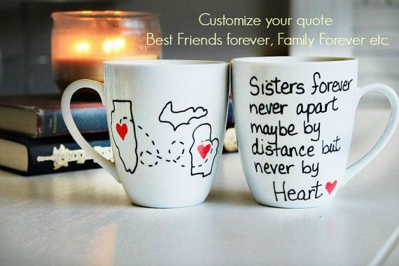 Sister gift Gift for Sisters Sisters Birthday by Brusheswithaview