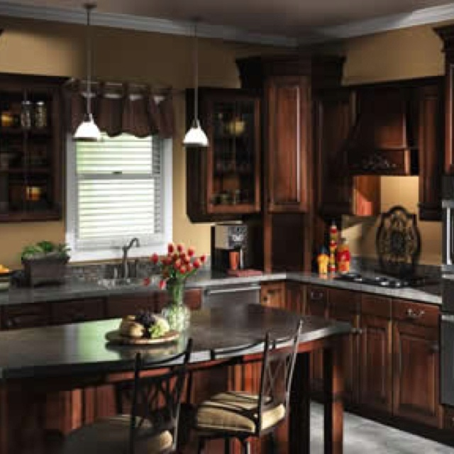 Black Glazed Kitchen Cabinets: Almost Like Our Future Kitchen. Stainless Steel Appliances
