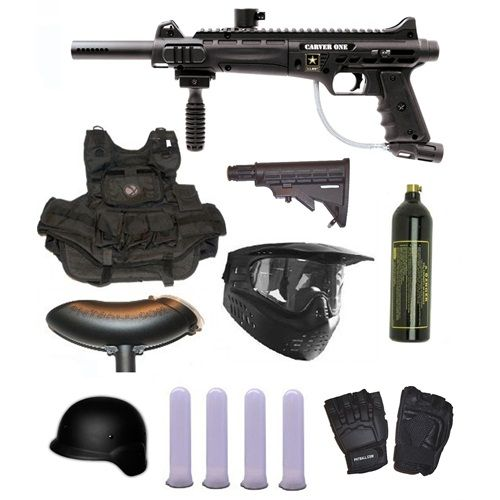 US Army Carver One Paintball Marker Gun 3Skull SWAT Set. Available at UltimatePaintball.