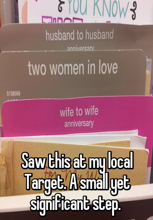 """""""       Saw this at my local Target. A small yet significant step. """""""