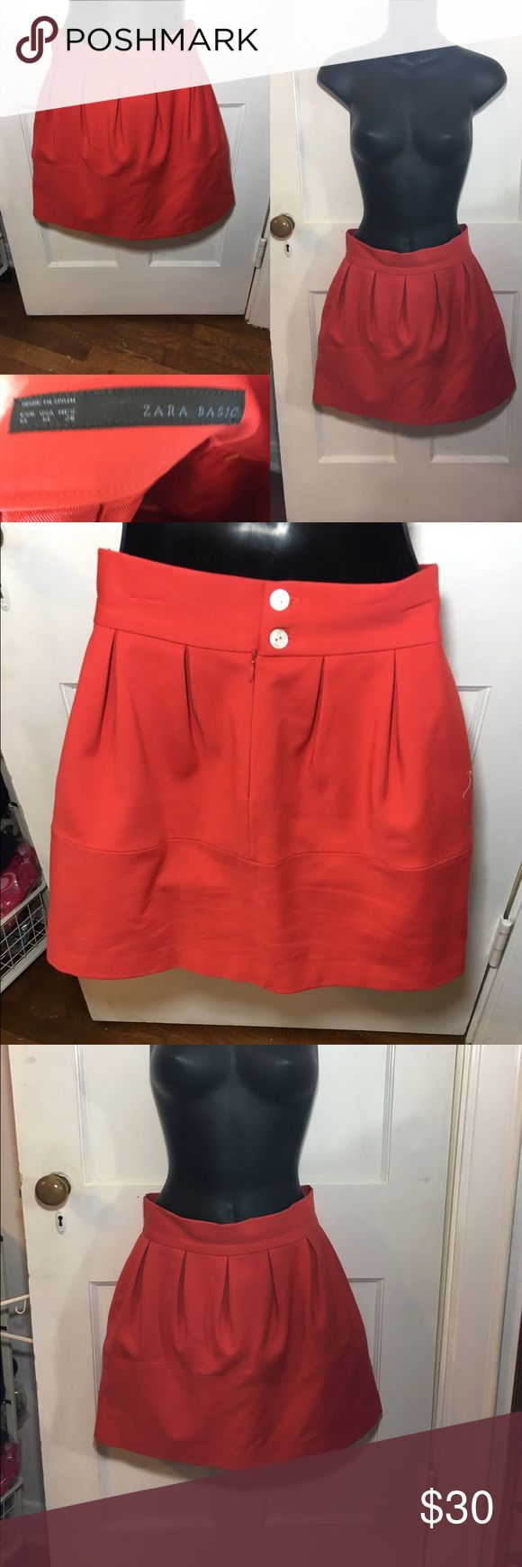 NWOT Burnt Orange 🍊 Zara Basic Skirt Laying flat length 16in top wasit 13 1/2in and Bottom 20 1/2in   Never worn  -I do not accept offers in the comments so please make all reasonable offers using the offer button only. :) I WILL ALWAYS MAKE A COUNTEROFFER UNTIL I REACH MY LOWEST PRICE NO DECLINES SOME ITEMS PRICES ARE FIRM  -NO TRADES  -I ship every Monday, Wednesday and Friday   💕Instagram- allisonsbeautyboutique 💕 Your purchase is going to help me graduate community college with as…