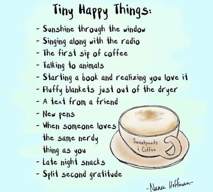 Simple things that can bring us joy.