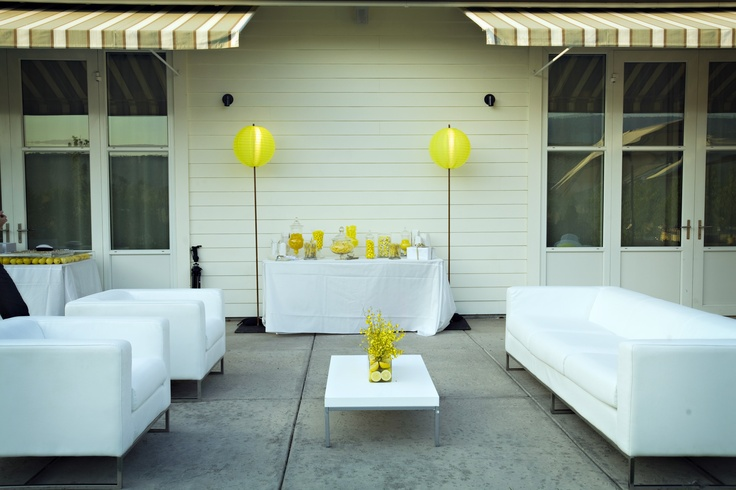 Outdoor Lounge for a Casual Reception - Meetings & Events - Solage Calistoga