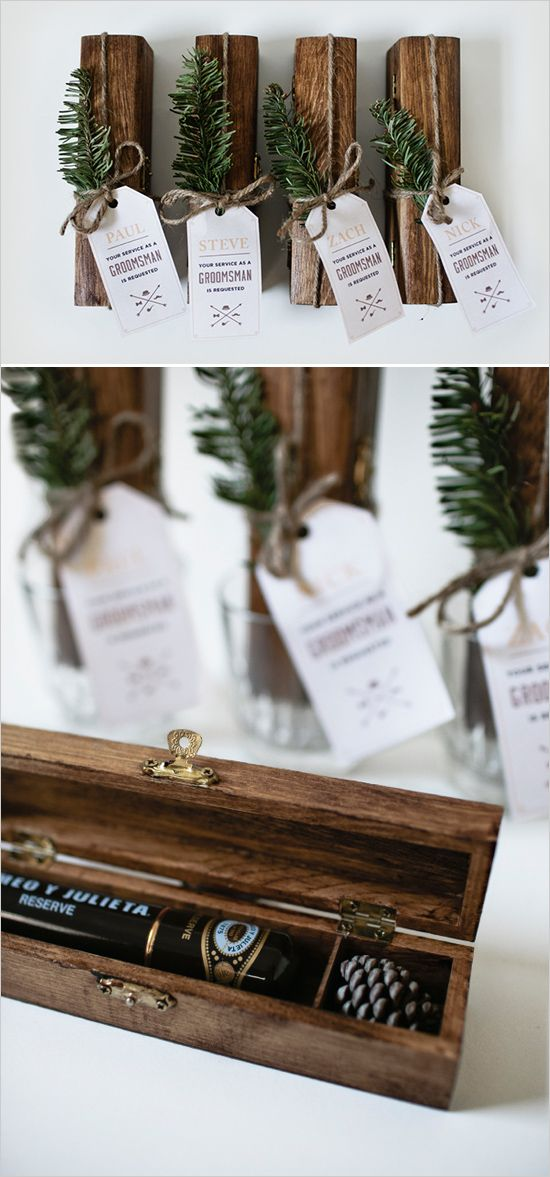 Cigar box DIY for your guys. Captured and Created By: Corinne Alexandra #weddingchicks http://www.weddingchicks.com/2014/06/27/diy-gift-for-the-fellas/