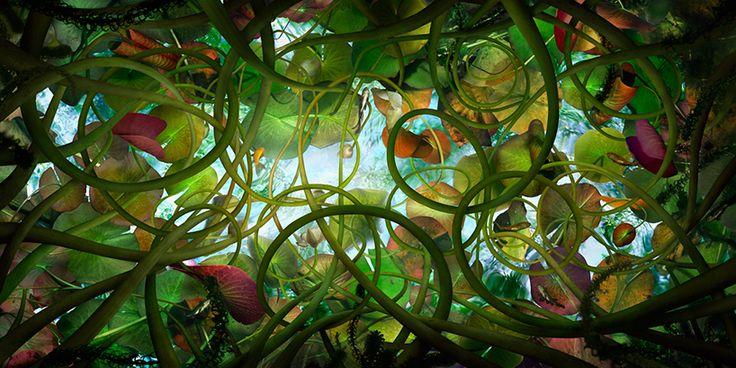 Catherine Nelson's labyrinth landscapes