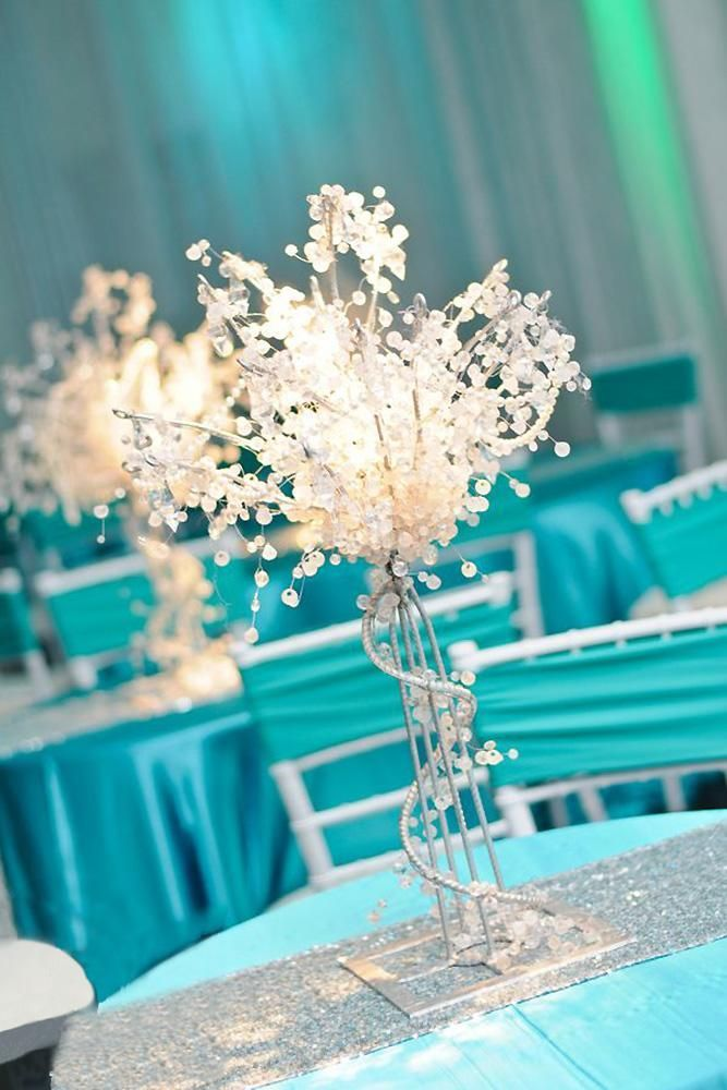 30 Awesome Tiffany Blue Wedding Decorations Blue Wedding Centerpieces Blue Wedding Decorations Tiffany Sweet 16