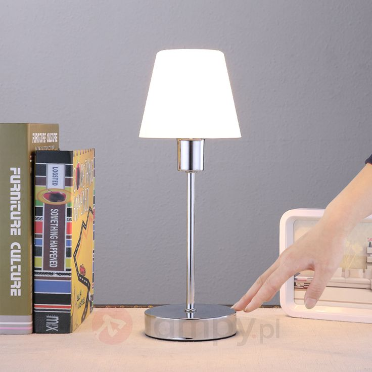 Piękna lampa stołowa Sascha ze szklanym kloszem 9620820