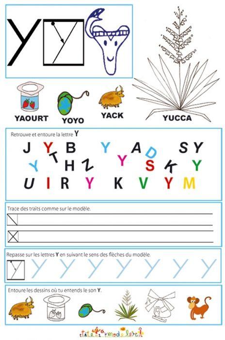 Page de lecture - écriture : la lettre de l'alphabet