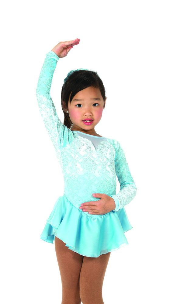 New Jerrys Competition Skating Dress 48 Powder Princess Made on Order