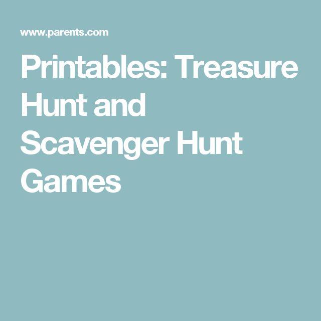 Printables: Treasure Hunt and Scavenger Hunt Games