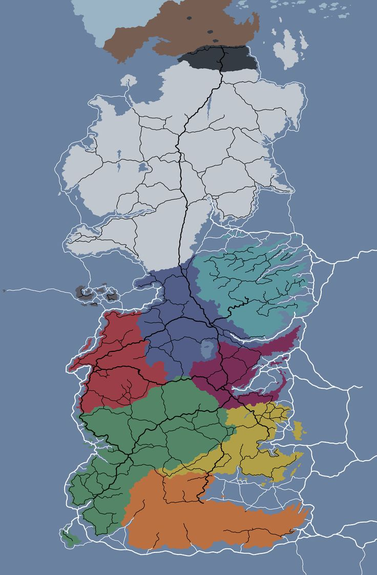 [EVERYTHING] I drew a political map of Westeros with roads and sea lanes based on the map by Jonathan Roberts