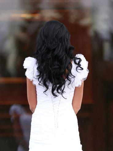 long curly wedding hair worn down