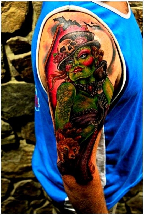 1000 images about amazing zombie tattoo design on pinterest zombie tattoos on back and spiderman. Black Bedroom Furniture Sets. Home Design Ideas