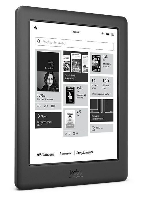 """[TABLOÏD SEPTEMBRE 2015] KoboGlo HD : Emportez toute votre bibliothèque avec vous et ayez 4 millions d'eBooks à portée de main ! L'écran tactile 6"""" HD Carta E Ink le plus net et le plus proche du papier. Personnalisez les polices et les marges. Système ComfortLight entièrement ajustable pour lire à votre aise de jour comme de nuit. Autonomie de batterie : jusqu'à 2 mois (en fonction de l'usage de chacun) RÉF. N437-KU-BK-K-EP http://www.exertisbanquemagnetique.fr/info-marque/kobo"""