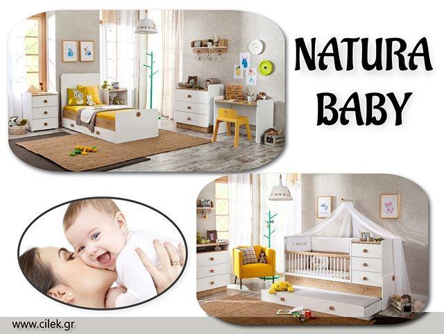 Το πάντρεμα των υλικών του φυσικού ξύλου με το λευκό χαρίζει στο δωμάτιο ένα ήρεμο περιβάλλον ξεκούραστο γαλήνιο.  Οι βρεφικές κούνιες διαθέτουν άνετους χώρους και έξτρα χώρους αποθήκευσης NATURA BABY Δείτε όλο το δωμάτιο στο www.cilek.gr #cilekgreece