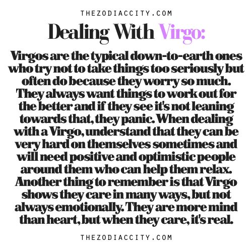 Zodiac Files: Dealing With A Virgo.