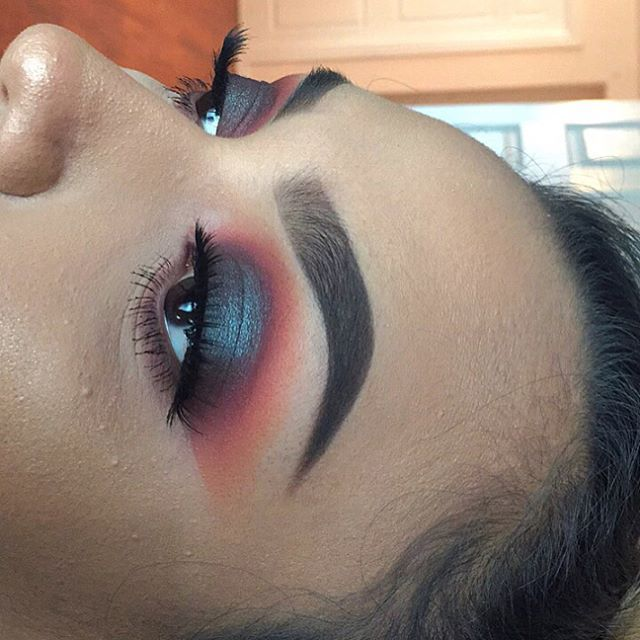 WEBSTA @ dearisamar_ - was playing around with my bestie's makeup up and came up with this look we recreated from Daisy Marquez  •used the Modern Renaissance, Tartiest Pro palette and the Morphe 35O (not a certified mua but practice is gonna make perfect)