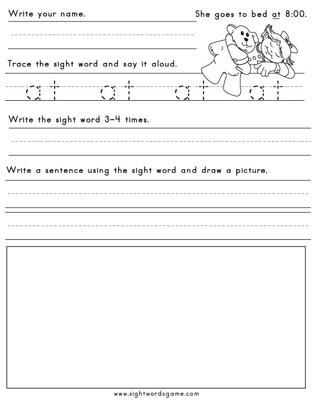 33 best Sight Word Worksheets images on Pinterest Children - free book writing templates for word