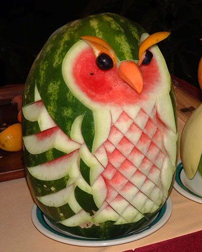 Watermelon Owl..THIS IS SO CREATIVE..