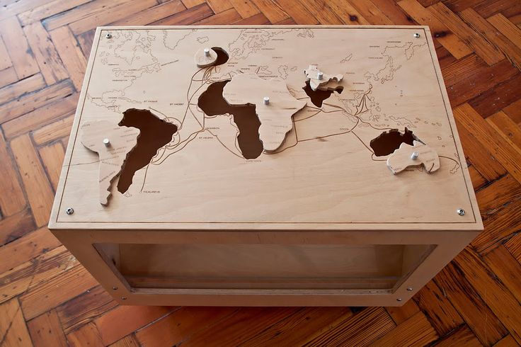 Laser Cut World Jigsaw Puzzle Mapping Pinterest
