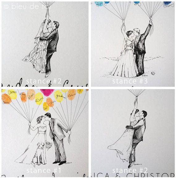 Custom Couple Thumbprint Balloon The original van bleudetoi op Etsy