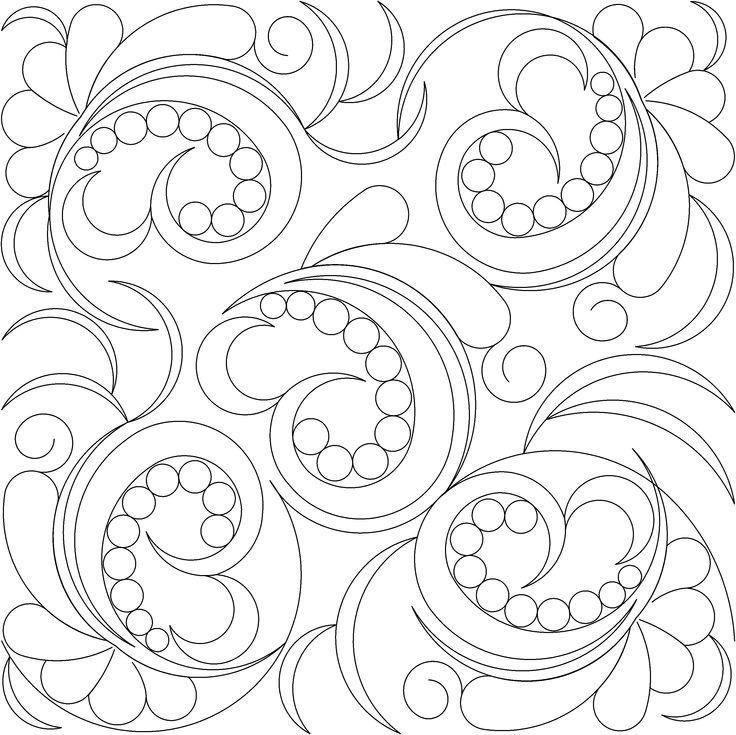 Longarm Quilting Stencils : 156 best images about 4 Swirls Curls LongArm Quilt Patterns on Pinterest Shops, Design ...