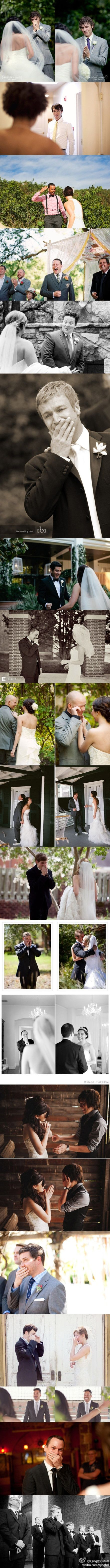 I love how it shows the men getting choked up when they see how beautiful the bride is. They have feelings too!