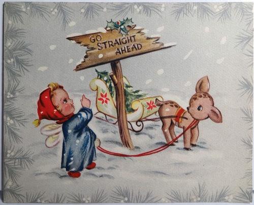 1940s Vintage Christmas Card