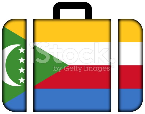 Suitcase with Comoros Flag royalty-free stock photo