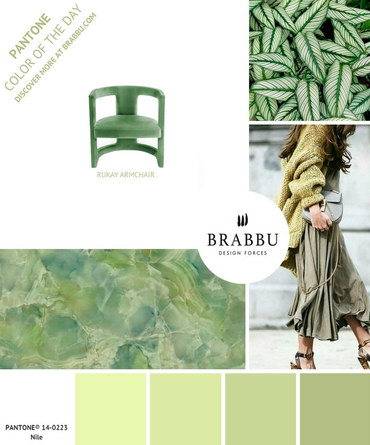 @pantonecolor Color of the Day: Nile | Mood Boards. Color Trends. #colors #pantone #moodboard #interiordesign Discover more at: https://www.brabbu.com/moodboards/