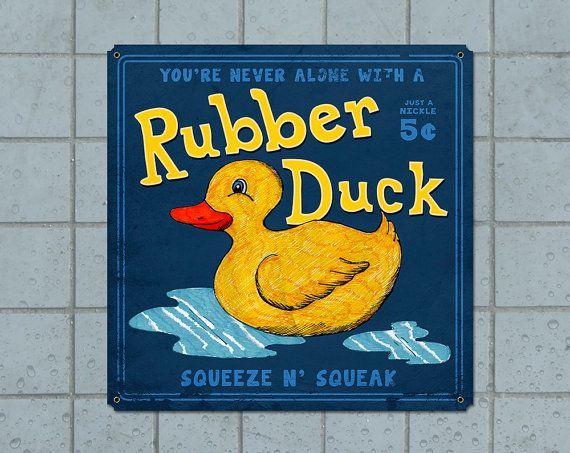 Rubber Duck Bathroom METAL Poster 11x11 FREE by ArtHouseGraffiti   49 00. 17 best ideas about Rubber Duck Bathroom on Pinterest   Duck