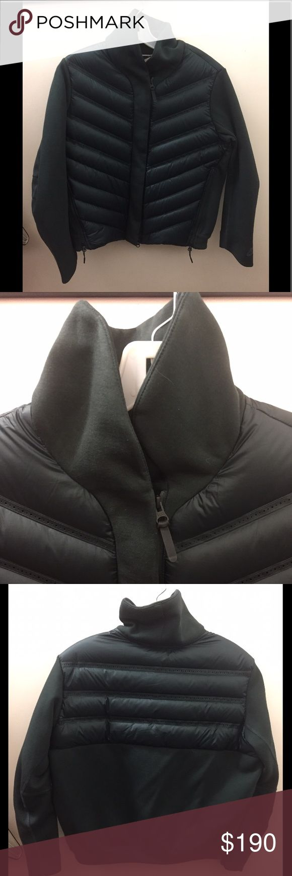 Nike tech fleece aeroloft jacket Size- Woman's medium  Condition- Like new  Color- Seaweed/black (as seen on Nike website)  Down inside   Retail: $250  Thanks for looking! Nike Jackets & Coats Puffers