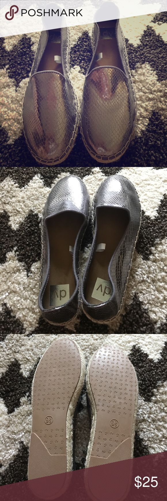 Women's size 9 1/2 espadrilles Brand new never worn (no tags) silver espadrilles by DV Target Shoes Espadrilles