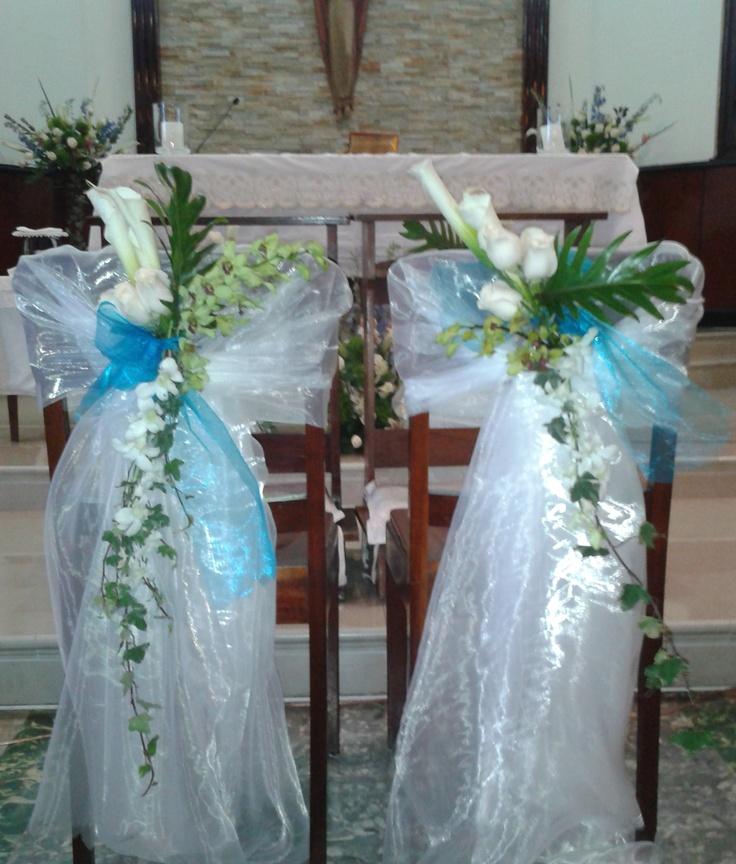 sillas novios iglesia decoracion de sillas pinterest