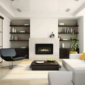 linear gas fireplace direct vent - Google Search