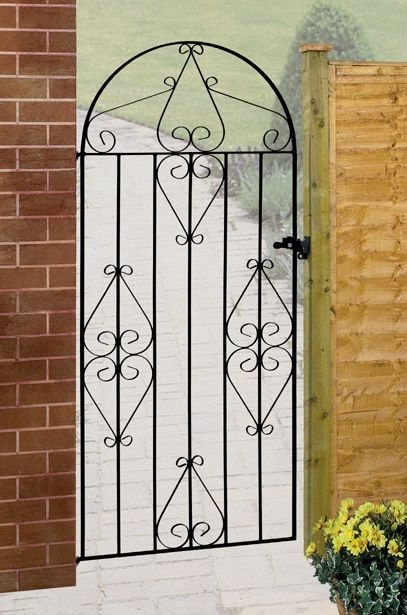 Traditional wrought iron styling comes to the fore with this stunning tall side gate. Great value for money and available in a range of sizes too.