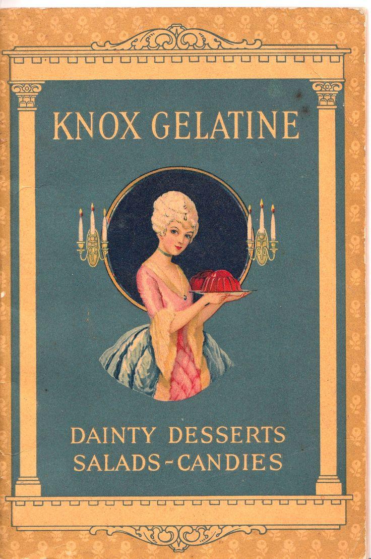 Vintage bathroom ads - Cover Of Knox Gelatine Recipe Booklet Vintage Paper Vintage Ads