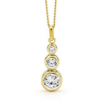Buy our Australian made E27 - Cubic Zirconia pendant with 3 stones - BEE-65073-CZ online. Explore our range of custom made chain jewellery, rings, pendants, earrings and charms.