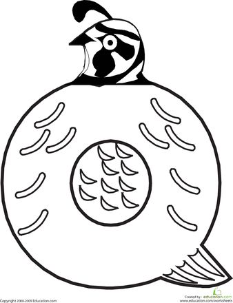 letter q coloring page