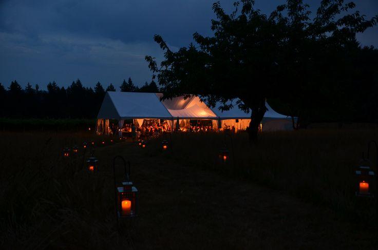 40x60 Night Shot/Black & White Party Rentals Parksville BC/Vancouver Island Weddings#vanisleweddings