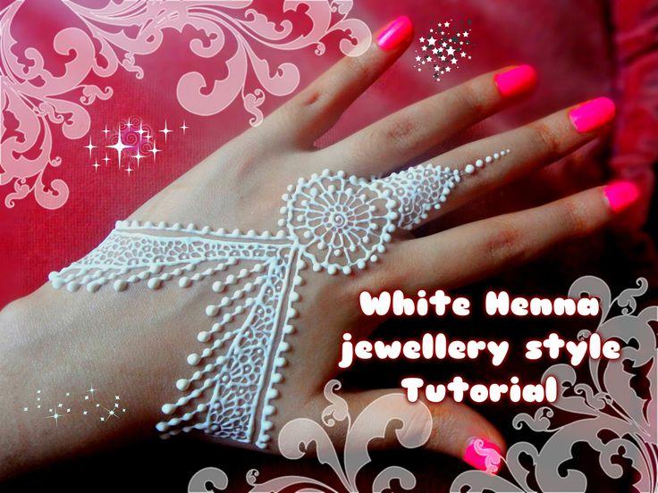 Beautiful Henna Mehndi Jewellery : Easy diy best and beautiful white henna jewellery style tutorial