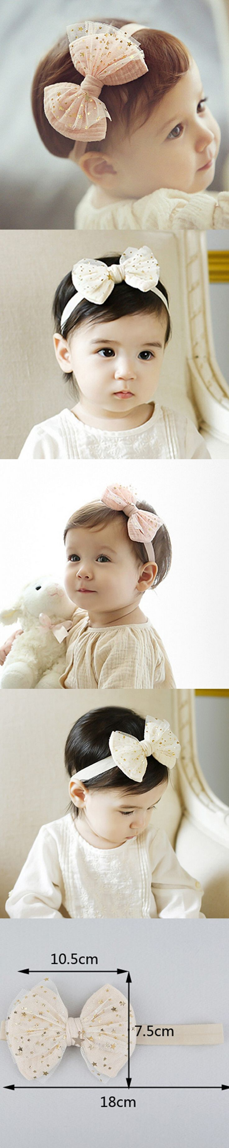 New 2016 Bow Baby Headband Child Elastic Cotton Hairband Baby Headband Lace Bows Stars Printed Turban Knot Head Wraps