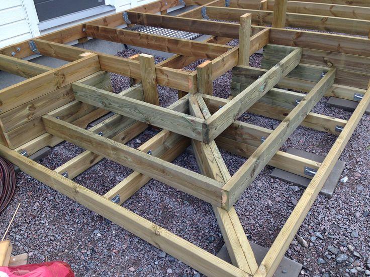 Bilderesultat for bygga altan på plattor