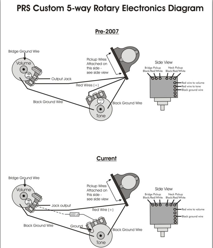 Rotary Switch Wiring Diagram Guitar : Prs tremonti pickup wiring diagram get free image