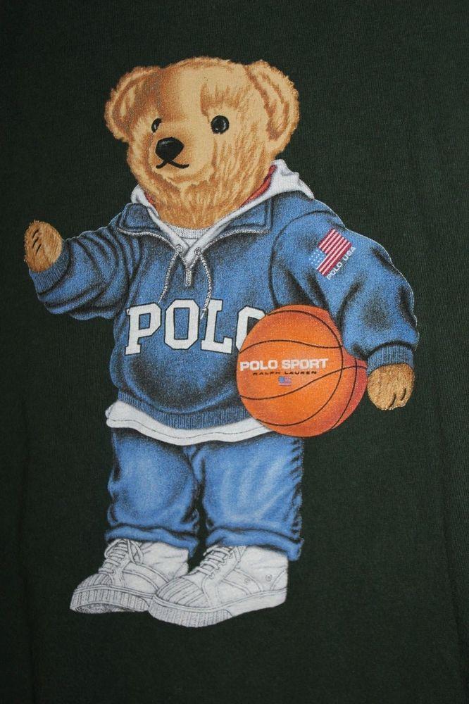 Polo Bear T Shirt Ralph Lauren Teddy Green Basketball Usa