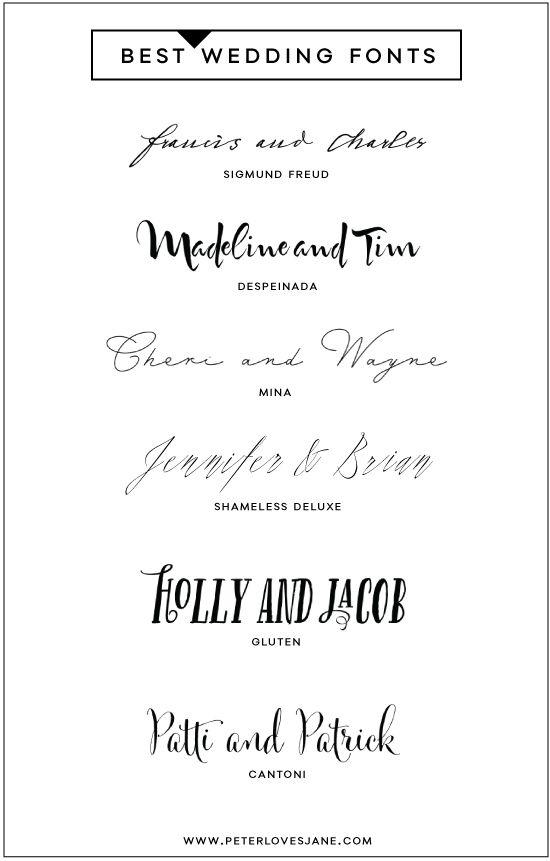 Best wedding fonts #fonts #typograpy #weddings